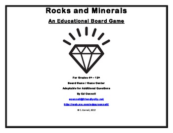 Minerals and Rocks Board Game