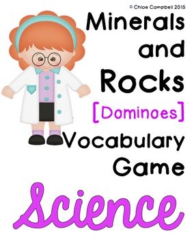Minerals and Rocks Vocabulary Dominoes Game SC.4.P.6.2