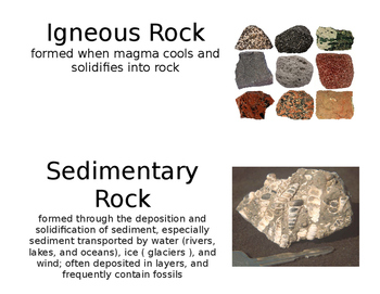 Minerals and Rocks Vocabulary for Word Wall