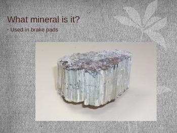 Minerals in a car slideshow