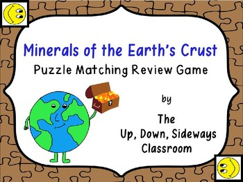 Minerals of the Earth's Crust Puzzle Matching Vocabulary R