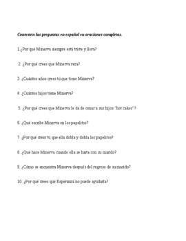 Minerva escribe poemas (La casa en Mango Street) worksheet