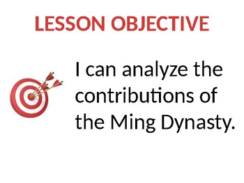 Ming Dynasty China Lesson