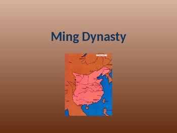 Ming Dynasty - China PPT