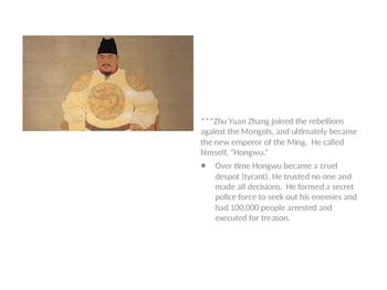 Ming Dynasty (Yongle, Forbidden City, etc)