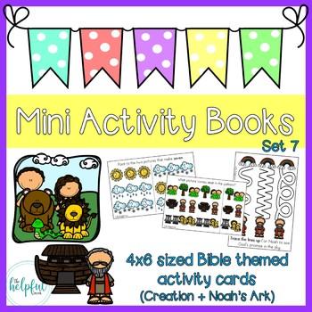 Mini Activity Books - Bible Themed Set 7 (Creation + Flood)