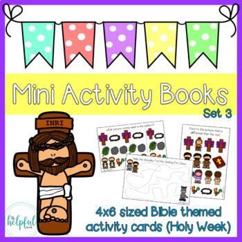 Mini Activity Books ~ Bible themed (Easter) ~ low prep (set 3)