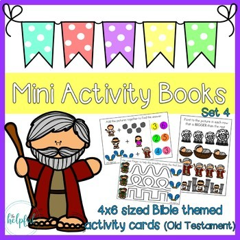 Mini Activity Books ~ Bible themed set 4 (Old Testament)