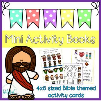 Mini Activity Books ~ Bible themed set 1 (various stories)