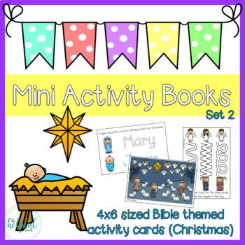 Mini Activity Books ~ Bible themed set 2 (Christmas)