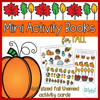 Mini Activity Books ~ Fall themed