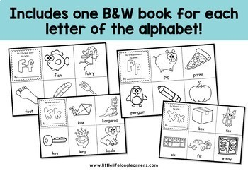 Mini Alphabet Books for Kindergarten - Beginning Sounds and Letters