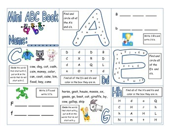 Mini Alphabet Booklet
