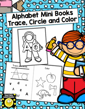 Mini Alphabet Books- trace, circle and color