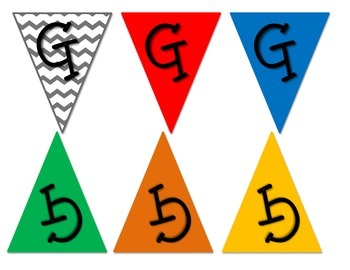Mini Alphabet Bunting Kit - primary [create any message of your choice!]