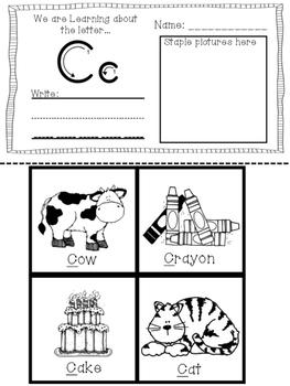 Mini Alphabet Letter Booklet