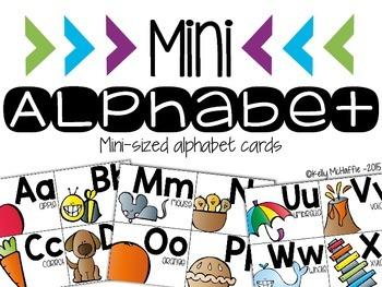 Mini Alphabet Poster Set
