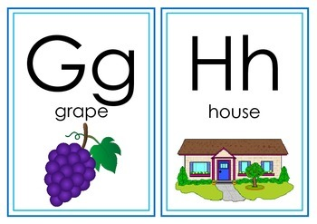 Mini Alphabet Posters/ Classroom Frieze