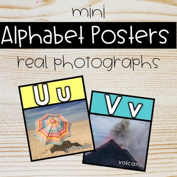 Mini Alphabet Posters with Real Photos
