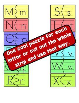 Mini Alphabet Puzzles - Perfect for File Folder Games