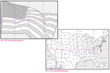 Mini Americana Mural Templates