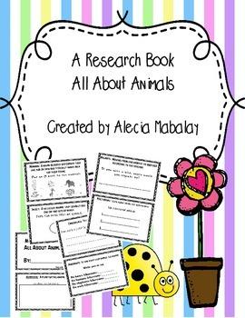 Mini Animal Research Book