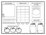 Mini Apple Activity Worksheet STEAM-based