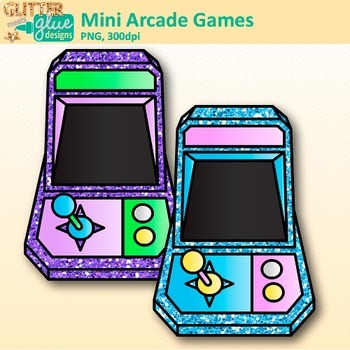 Mini Arcade Games Clip Art: Game Technology Graphics {Glitter Meets Glue}