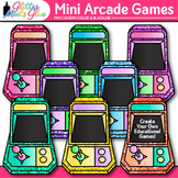 Mini Arcade Games Clip Art {Rainbow Glitter Games for Clas