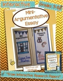 Mini-Argumentative Paper ~ Interactive Research Papers Lesson 4 ~ CCSS Writing