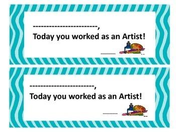 Art Student Certificate