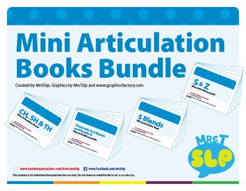 Mini Articulation Book Bundle For Later Developing Sounds