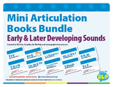 Articulation Mini Books MEGA Bundle for Speech Therapy