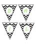 Mini Banner-DAILY SCHEDULE in Black & White Chevron and Li