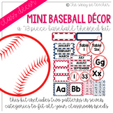 Mini-Baseball Classroom Decor Pack