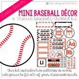Mini-Baseball Classroom Decor Pack (Orange & Black)
