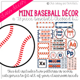 Mini-Baseball Classroom Decor Pack (Orange & Navy)