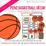 Mini-Basketball Classroom Decor Pack