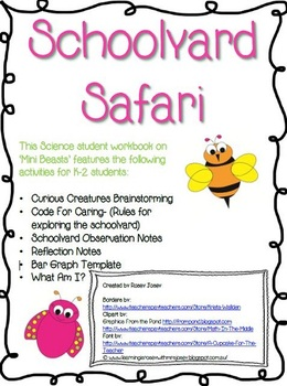 Mini Beasts Science Student Workbook