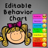 Mini Behavior Clip Chart for Desk EDITABLE