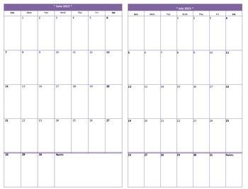 Mini Binder 2015-16 Calendar