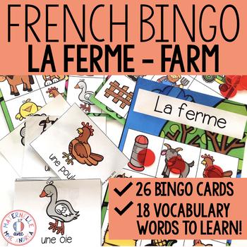 Mini Bingo - La ferme (Farm animals mini bingo)