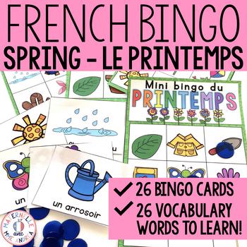 Mini Bingo - Le printemps (French Spring Bingo)