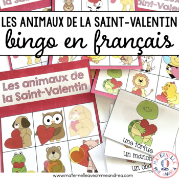 Bingo - Les animaux de la Saint-Valentin (FRENCH Valentine's Day Animal Bingo)