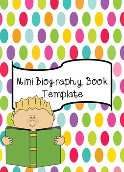 Mini Biography Booklet Template
