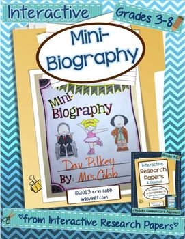 Mini-Biography ~ Interactive Research Papers, Lesson 2 ~ Common Core Writing