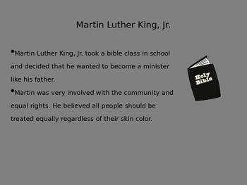 Mini Biography Martin Luther King Jr.