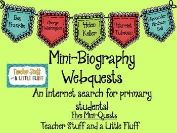 Mini Biography Webquests