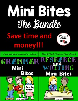 Mini Bites Bundle - Grammar Mini Bites and Research and Writing Mini Bites