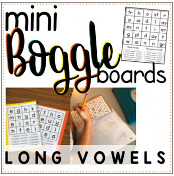 Mini Boggle Boards - Long Vowel Patterns